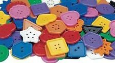 """10 Large Colorful Plastic Buttons 1 3/4"""" Wonderful"""