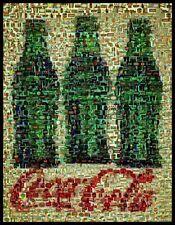 Amazng Three Coca-Cola Coke Bottles Montage Limited Edition w/COA
