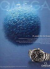 PUBLICITE ADVERTISING 2011  OMEGE montre planéte Océan