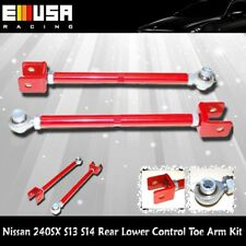 For 1989-1994 Nissan 240SX S13 S14Rear Lower Control Toe Arm Kit RED