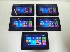 Lot of 5 Dell Latitude 10/1.8ghz/64GB/10.1/win8.1Core/Tablets-*READ DESCRIPTION*