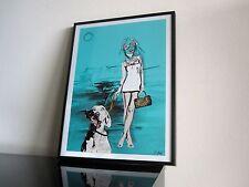 Dada Art - Louis Vuitton - Dog - HOT - Hund - Kunst - signiert - Collage Art