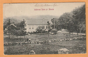 Toftenaes Skole pr. Mandal Norway 1910 Postcard