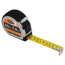 KESON 25 ft./7.5m Steel SAE/Metric Tape Measure,  Black/Chrome PG18M25 (9402)