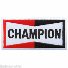Champion Spark Plug Biker Car Racing Motorcycles Iron on Patch Jacket Cap #MC001