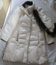 MARCONA DUVET / DOWN  WHITE LADIES WOMEN'S PUFFER COAT WITH HOOD - SIZE XL
