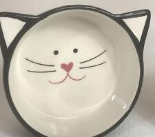 Y Yhy Cat Kitten Face Ceramic Food Water Dish Feeder Bowl