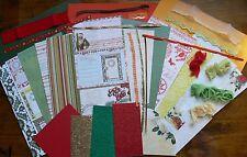 Christmas 2 WEBSTER ContrastCardKits 6 Pattern & 3 Cstock 12x6 & RibbonsMixture