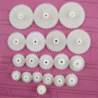 New 19Kinds Plastic Shaft Double Reduction Gears DIY For Toy Robot beus 2015