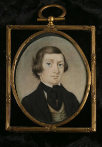 Fine American Portrait Miniature c1840
