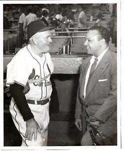 '55 Orig Baseball Photo American Legendary HOF Player ROGER HORNSBY St. Louis