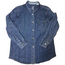 Vintage Calvin Klein Jeans Label L/S Denim Shirt Minimalist One Pocket Medium
