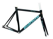 Bianchi Super Pista Frameset Black Celeste 51cm Track Frame Carbon Fork NEW