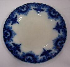W H GRINDLEY ENGLAND 'CLIFTON' FLOW BLUE DESSERT PLATE