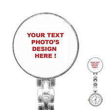 New Personalized Custom Your Logo Design Photo Text Stainless Steel Nurses Watch