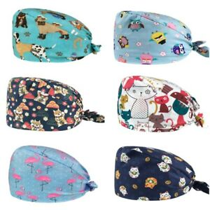 Surgery Surgical Scrub Womens Cap Caps Hats Hat Health Nurse Gift Cat Dog Owl