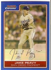JAKE PEAVY BLUE REFRACTOR SERIAL #/150 2006 BOWMAN CHROME 55 SD PADRES SF GIANTS