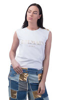 BALMAIN T-shirt Top Size 34 / XS Print Logo Front Made in Portugal RRP €160