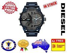DIESEL DZ7414 MR DADDY 2.0 BLUE Multiple Time Zone Chronograph Mens Watch