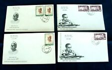 Four India FDC 'Personalities' Stamps Series 1965/66 - Poona Postmarks