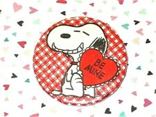 """Vtg Valentine'S Day """"Be Mine"""" Peanuts Snoopy Metal Button Pin/Badge"""