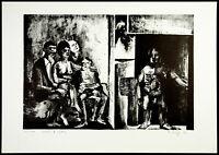"""Totem und Tabu"", 1963. Frühe Lithograpie Peter SORGE (1937-2000 D) handsigniert"