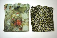 Lot of 2 New Directions Women's Small Short Sleeve Blouse Tops