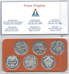 NASA Space Transportation System Final Flights 6 Minted Coin Collector Series