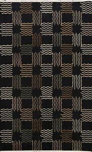 Modern Geometric Nepal Tibetan Oriental Area Rug Hand-knotted Wool Carpet 6'x8'