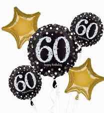 Sparkling Celebration 60th Birthday Balloon Bouquet Party Supplies Sixtieth, 60