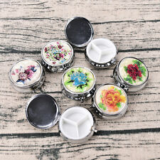 Metal Folding Pill Case Medicine Organizer Pill Box Makeup Storage Container.US