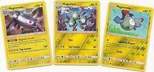 RARE MAGNEZONE (Holo)+MAGNETON (RH)+MAGNEMITE (RH)- FORBIDDEN LIGHT Pokemon MINT