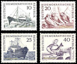 EBS East Germany DDR 1961 - Deep Sea Fisheries - Michel 817-820 MNH**