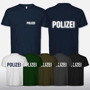 T-Shirt für Polizei Police Druck beidseitig Fan TShirt Fun Kult S-5XL