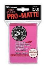 50 PRO MATTE DECK PROTECTORS Bright Pink Rosa Acceso MTG MAGIC Ultra Pro