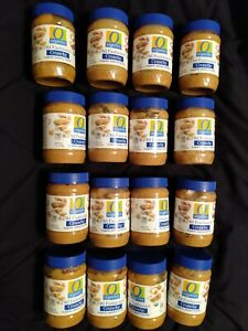 Lot of (16) Organic Peanut Butter Crunchy Old Fashioned18-ounce plastic jars