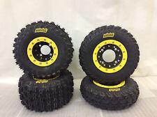 Hiper CF1 Beadlock Rims ITP Holeshot MXR6 Tires Front/Rear MX Kit Wheels LTR450