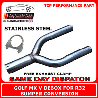Golf Mk5 Deres Back Box Rear Delete Y Pipe for Tdi R32 Bumper Conversion