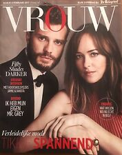 VROUW Magazine HOLLAND Jamie Dornan,Dakota Johnson Fifty Shades Darker