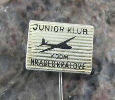 Vintage Hradec Kralove Junior Aircraft Flying Club Glider Gliding Pin Badge