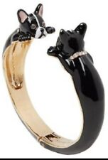 KATE SPADE Ma Chérie Antoine French Bulldog Hinged Cuff Bracelet w/ KS Dust Bag