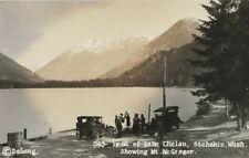 Head of Lake Chelan, Stehakin, Wash. Showing Mt. McGregor - DeLong RPPC