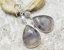 925 Sterling Silver Overlay EARRINGS JEWELRY | FLUORITE 2 1/2 inch B20-029