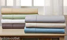 Wexley Home 1000 TC Egyptian Cotton 4-Piece Sheet Set: Silver (Queen) Gray