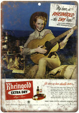 "Rheingold Beer Man Cave Décor Art 10"" x 7"" Reproduction Metal Sign E230"