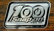 Snap-on Tools 100th Anniversary Aluminum Logo Legacy Sign 2020 Promo Item