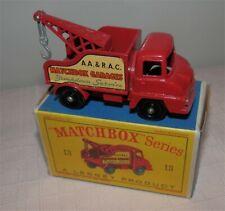 1960s.Matchbox Lesney 13 Ford Thames Wrecker Tow Truck,BPW.ORIGINAL.MINT IN BOX