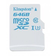 KINGSTON Action Camera Micro SD Class 10 UHS-I U3 Memory Card 64GB (Waterproof)