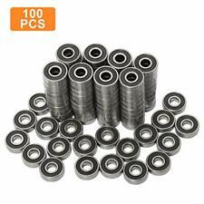 100 Pack 608-2Rs Skateboard Bearing, Rolling Bearings, 8X22X7Mm 608Rs Bearing