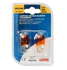 Lampada con zoccolo vetro 12V WY21W 21W W3x16d 2PZ D/Blister COD.58100